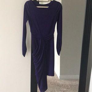 Purple long sleeves dress